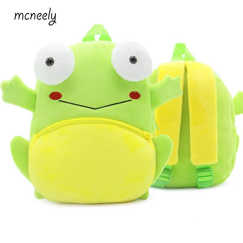 2-4 Years Old Kindergarten KidsFrog Backpacks Baby Girls Boys Cute Schoolbag Plush Backpack Children Cartoon School Bags