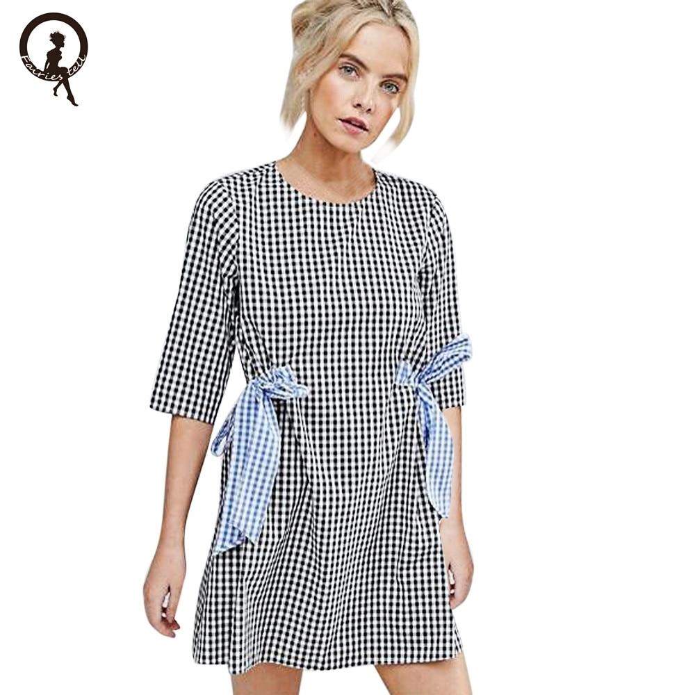 Women Sexy Half Sleeve Office ladies dress Striped O Neck Black White Party Desses Mini lattice Dress Vetement Femme #555