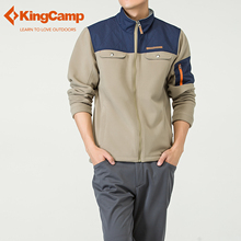 KingCamp Winter Mountain Front-Zip Fleece Jacket Double Warm Men's Outdoor Windproof Coats Mountain Softshell jacket Outwear
