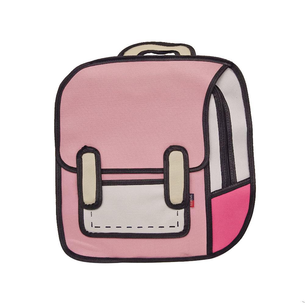Fashion Creative Women Backpack 2D Drawing Backpack 3D Jump Style Cartoon School Bags For Teenager Girls Shoulder Bag Rucksacks