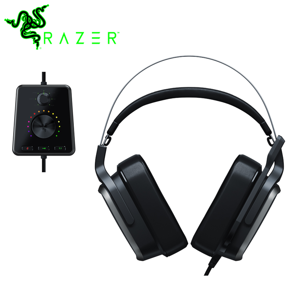 Razer Tiamat 7.1 V2 50 mm Personalizado Sintonizado Motoristas Analógico Gaming Headset com Microfone Fone De Ouvido Digital Surround Sound Gaming Headphone