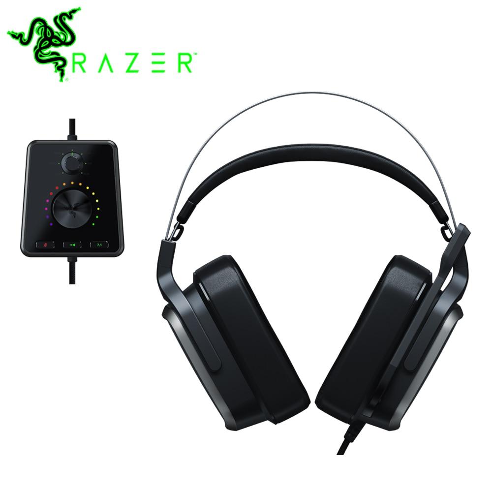 Razer Tiamat 7.1 V2 50 mm Personalizado Sintonizado Motoristas Analógico Gaming Headset com Microfone Fone De Ouvido Digital Surround Sound Gaming Headphone