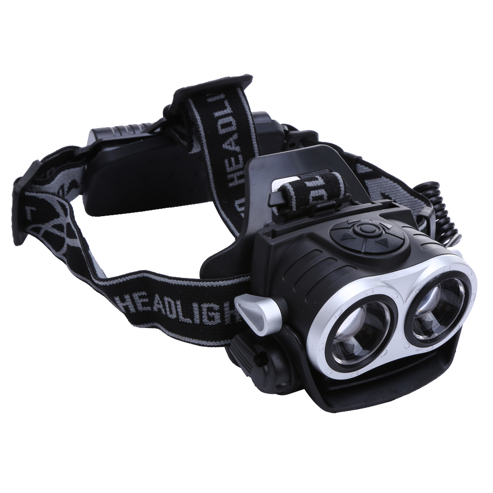 10000Lm 2x T6 LED Rechargeable Zoom 18650 Headlamp ...