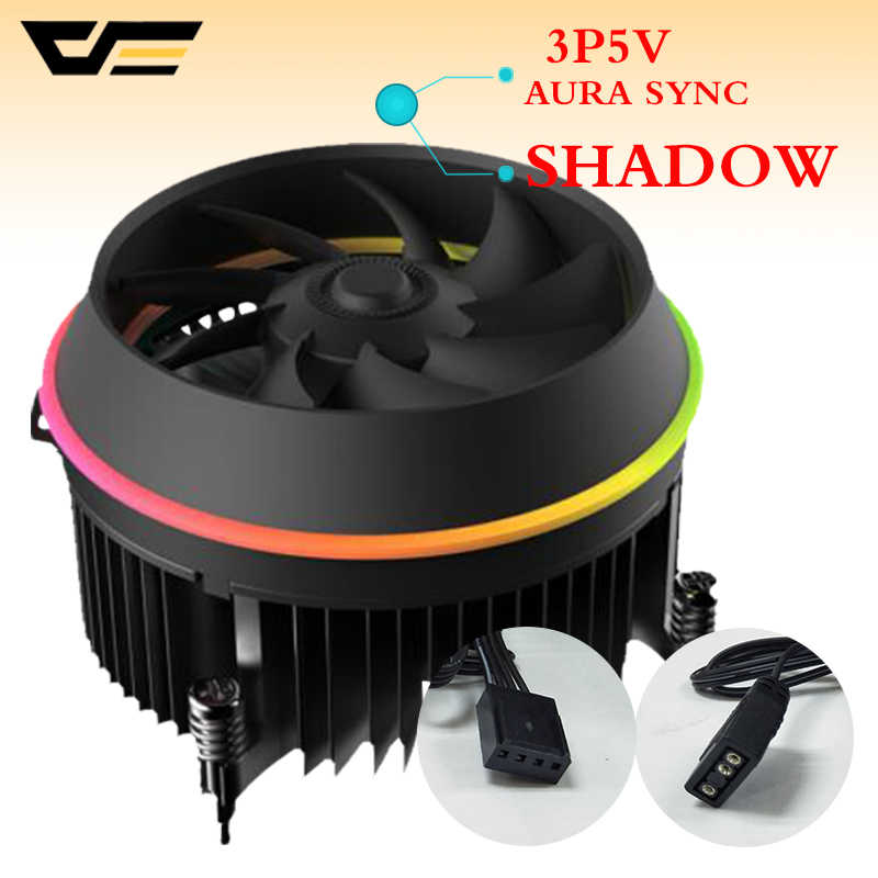 Darkflash Shadow CPU Cooler Aura SYNC 3 P-5V DP Mulai dari 280W PWM 4pin Double Ring LED RGB kipas Radiator Pendingin untuk Intel LGA 115X