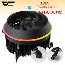 Darkflash тень Процессор охладитель AURA синхронизации 3 p-5 V TDP 280 W ШИМ 4pin двойное кольцо светодиодный вентилятор RGB кулер для intel LGA 115x