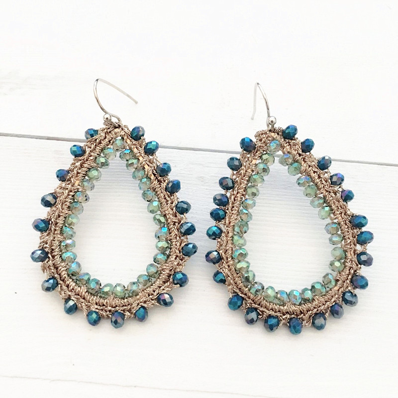 Dongmu jewellery baroque style crystal drop pendant ladies retro earrings fashion party boutique jewelry birthday gift