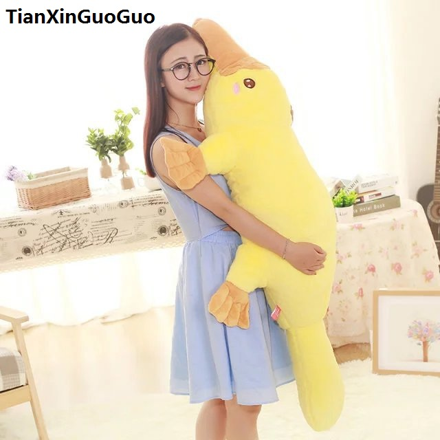 stuffed toy lovely yellow Platypus duckbill Duckmole large 130cm plush toy soft doll hugging pillow birthday gift s0206 banana shaped plush doll toy with sound effect for pet yellow