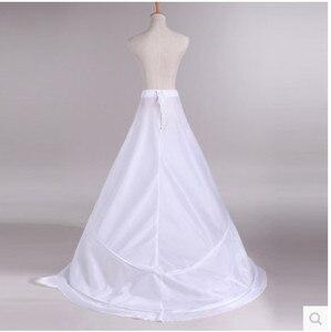 Image 3 - Novia Enaguas Onderrok Bruiloft Rok Slip Bruiloft Accessoires Chemise 2 Hoops Voor Een Lijn Staart Jurk Petticoat Crinoline 039
