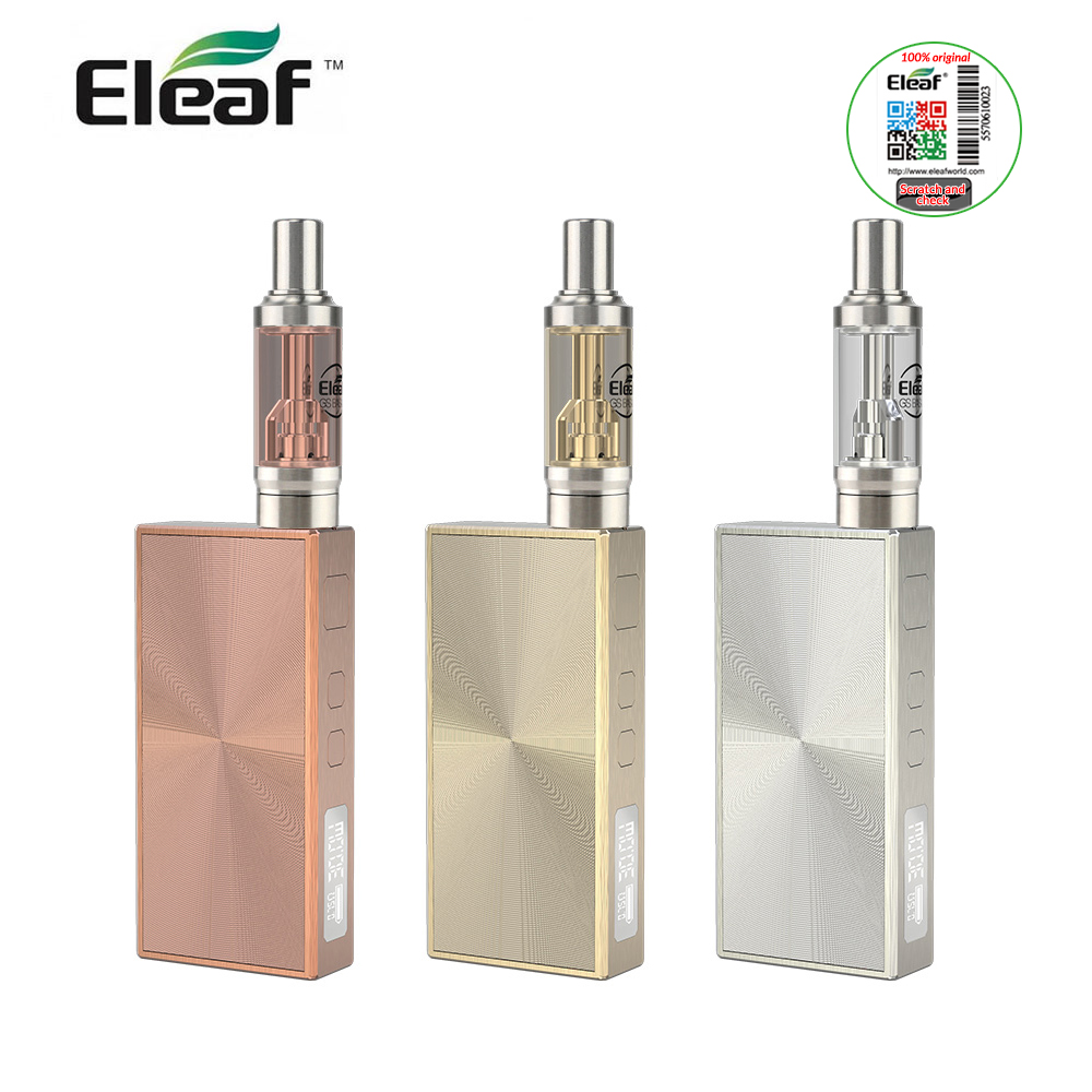 [IN Stock] Eleaf BASAL Quick Start Kit 30W 1500mah built in battery with GS Basal tank 1.8ml support 2A quick charge e-cigs kit цена 2017
