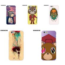 BobSdrunk Soft TPU Cases Capa Cover Kanye West Dropout Bear For Apple iPhone  X 4 4S 5 5C SE 6 6S 7 8 Plus 19528eb00e28