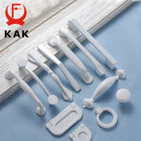 KAK White Cabinet Handles Aluminium Alloy Kitchen Closet Door Knobs and Cupboard Handles Drawer Pulls Furniture Handle Hardware