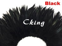 Cking Factory Sales 1kgs Eco friendly Dyed Black Rooster Saddle Feathers Strung Costume Decorations Real&Natural Chicken Feather