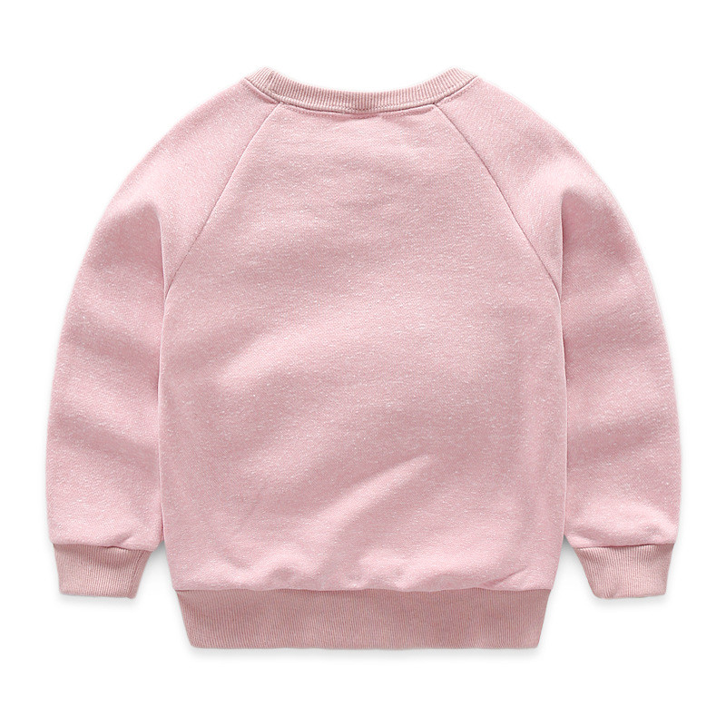 Jiuhehall 24M - 7T Children O-Neck Hoodies Letter Print Pullover With A Small Rabbit Doll For Girls Long Sleeve Kids Tops CMB974 (5)