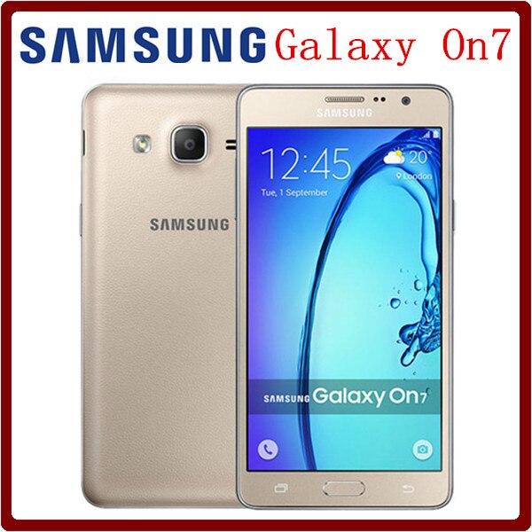 Цена за Оригинальный Разблокирована Samsung Galaxy On7 G6000 LTE 4 Г 5.5 дюймов Dual SIM 1.5 RAM + 16 GBROM Quad Core 13MP Камера 3000 мАч Хорошее качество