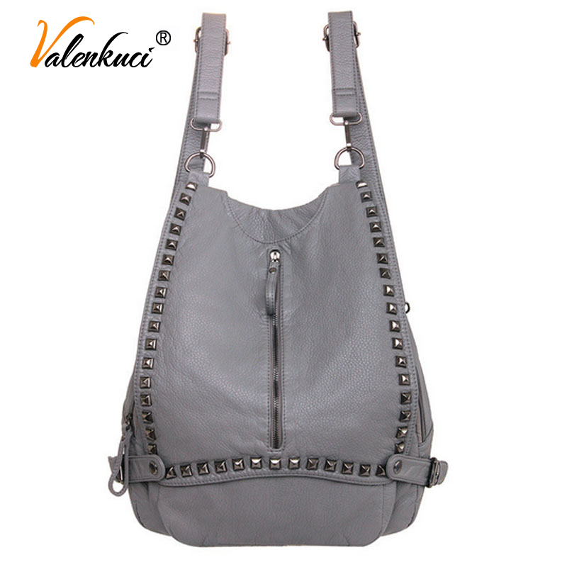Valenkuci 2017 Backpacks Women Backpack School Bags Students Bookbags Backpack For Women Travel Bags Leather Backpack