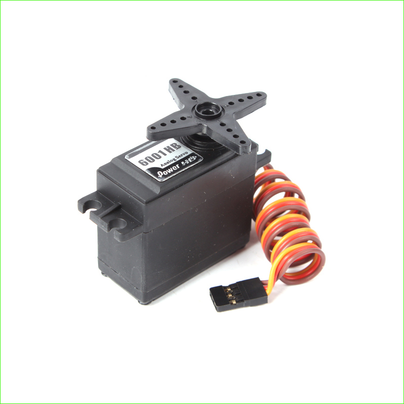 1Pcs Power HD 6.7kg/ 43g Analog Servo HD-6001HB with Plastic Gear 25T, Double Bearings aluminum alloy 25t steering servo horn