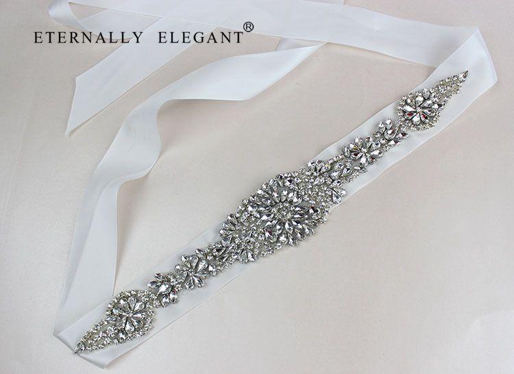 Hot New Style Rhinestone Wedding Ribbon Belt Accessories Bride Bridesmaid Bridal Sashes Belts For Wedding Dress In Stock
