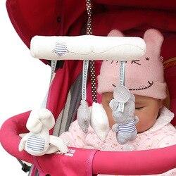 Fulljion Babyrassel Kaninchen Spielzeug Musik Puppe Bett Glocke Für Kinderwagen Säuglings Multifunktionale Hand Glocke Plüsch Pädagogisches Mobilen Spielzeug