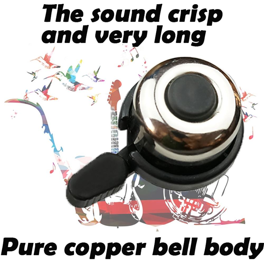 NEW Metal Ring Handlebar Bell Sound for Bike Bicycle cycling Aluminum copper body Plating Loud Mountain bike Fixed Gear Bike