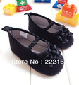 2017 Spring Summer Style Black Baby Shoes For Girls Princess Toddler Shoes Soft Slippers Infant Baptism Shoes