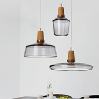 LED Modern Pendant Lights Nordic Crystal Glass Hanging Lamps Home Indoor Lighting Fixture Dining Room Cafes