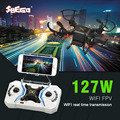 SBEGO 127W Smart Stretch RC Mini Pocket Drone 0.3MP Camera FPV Realtime WIFI 4 CH 6-Axis RC Toy Helicopter Quadcopter F18787