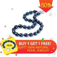 10 мм большой черный жемчуг ожерелье для см женщин 45 см/см 50 см Высокое качество колье ожерелье Продвижение товары цена