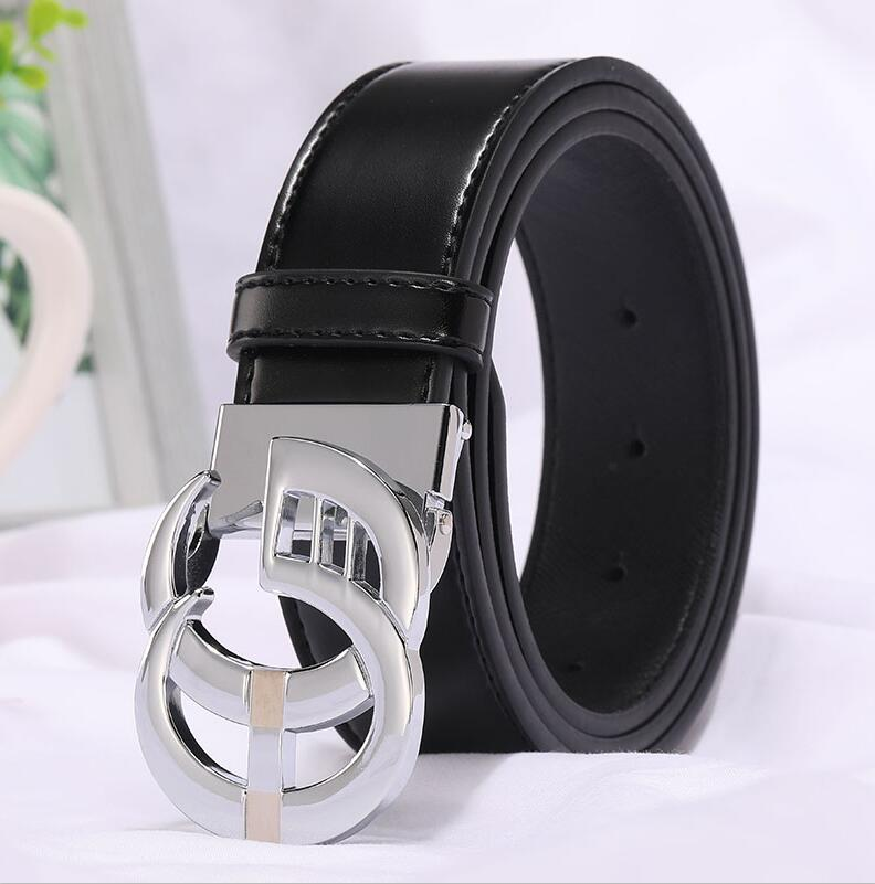 Image 4 - 2019 New Fashion Style Real cowhide man women leather leisure belt smooth  Gold Silver black buckle fashion popular lady straps-in Men's Belts from Apparel Accessories