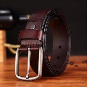 Image 3 - WESTERN AUSPICIOUS Genuine Leather Belt Luxury Designer Belts Men Cowskin Fashion Strap Male Jeans for Man Cowboy Belt Famous