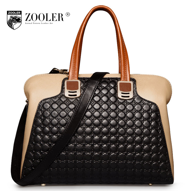 ZOOLER Fashion Genuine Leather Tote Bags Handbags Women Famous Brands Female Shoulder Bag For Women Messenger Bags Sac A Main new genuine leather bags for women famous brand boston messenger bags handbags tassel tote hand bag woman shoulder big bag bolso