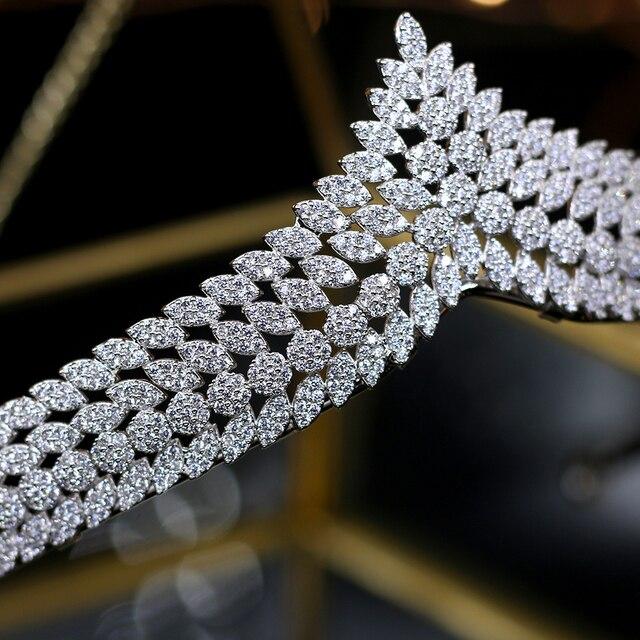 Asnora elegant full zircon tiaras