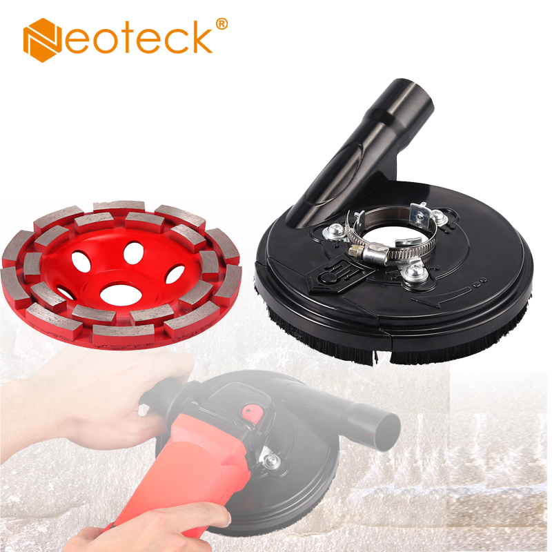 Neoteck Dust Shroud Kit Dry Grinding Dust Cover for 42-54mm Angle Grinder Power Tool Accessories Clear Vacuum Dust Cover