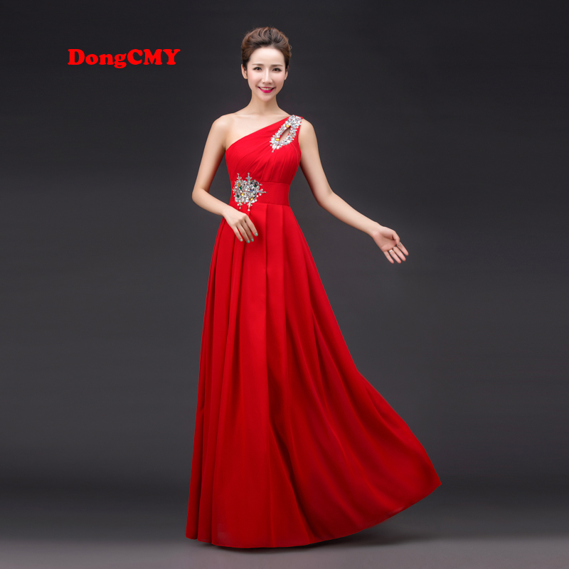 2017 primavera diseño largo rojo un hombro vestido longo plus tamaño vestido for