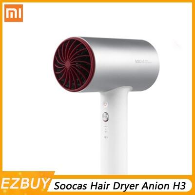 Original Xiaomi Mijia Soocas Hair Dryer Anion H3 Quick-dry Hair Tools 1800W For Xiaomi Smart Home Kits Mi Dryer Design Z30