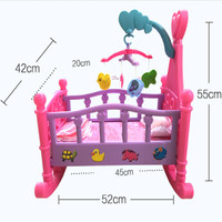 Large furniture girl simulation toy doll bed pink princess bed shaker hammock simulation crib toys furniture toys for children
