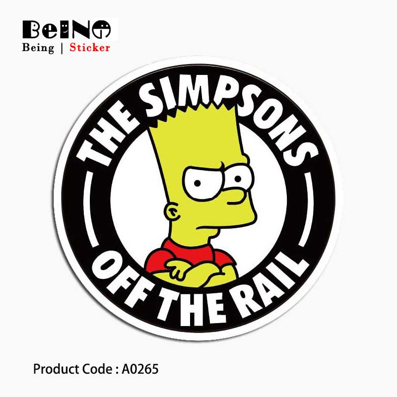 Simpson cartoon anime Sticker cool funny Waterproof Suitcase Laptop GuitarLuggage Skateboard Bicycle Toy lovely A0265 Stickers