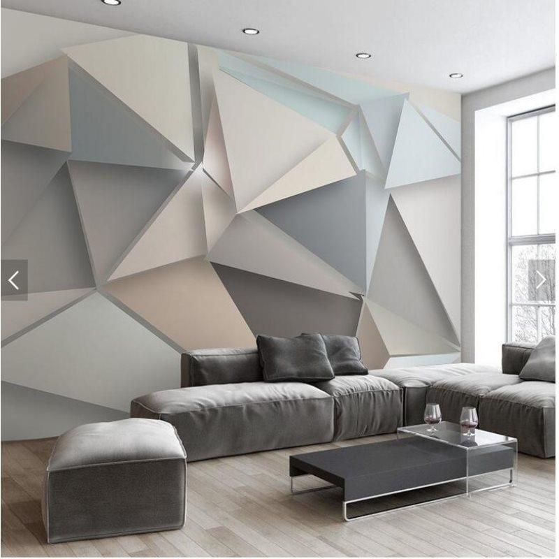 Verwonderend Grote 3d stereo driehoek moderne minimalistische stijl behang OB-39