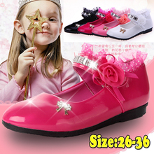 Flower Girls Shoes Spring Autumn Princess Lace PU Leather