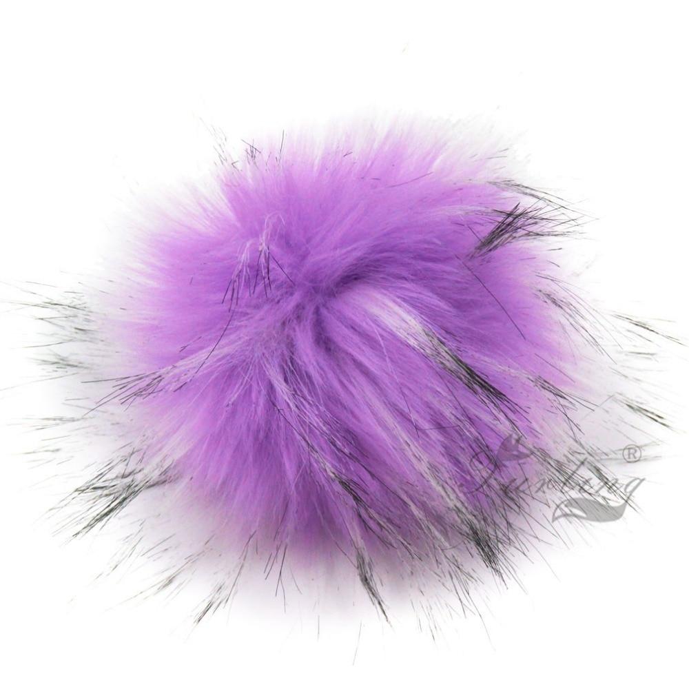 Furling DIY 12pcs Faux Raccoon Krzno 11CM Puhasto Pom Pom Ball za Hat - Modni nakit - Fotografija 5