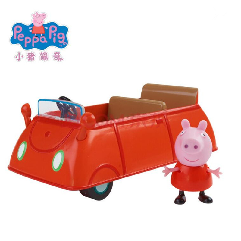 цена на Genuine Peppa Pig push along family car driver peppa to school peppa pig's car discover more peppa pig playsets
