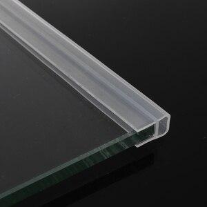 1M 6-12mm Silicone Rubber Window Glass Seal Strip F U h Shape Glass Door Sealing Strips Bath Screen Door Weatherstrip Dropship