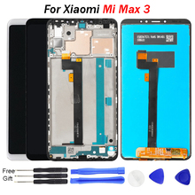 купить For Xiaomi Mi Max 3 LCD Display Touch Screen Digitizer Glass Panel with Frame New Replacement For Xiaomi Mi Max 3 Display 6.9