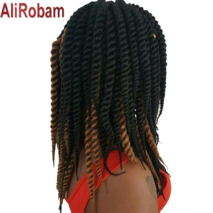 AliRobam Crochet Braids Ombre Braiding Hair Extensions 12Inch 12Strands/Pack Synthetic S ...