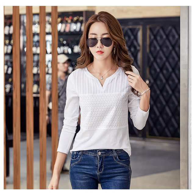 BOBOKATEER cotton embroidery blouse white top long sleeve women blouses 2018 casual shirt womens tops blusas mujer chemise femme 2