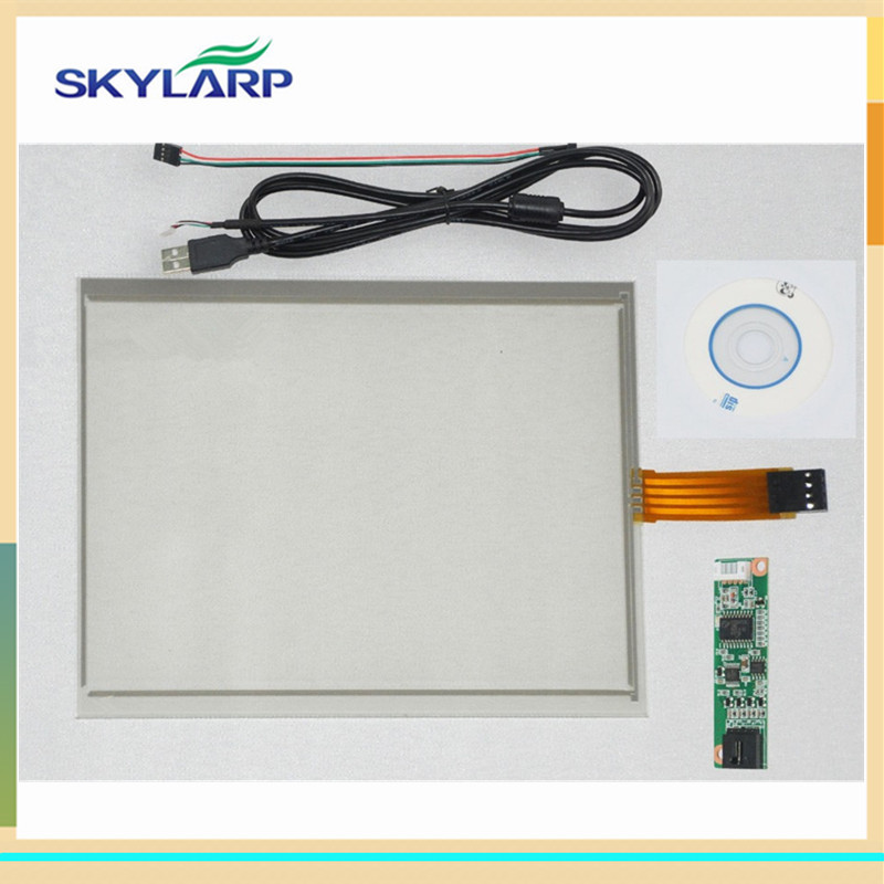 skylarpu New 6.5 inch 143mm*117mm 4 Wire Resistive Touch Screen USB Controller for G065VN01 digitizer panel Glass new 10 1 inch 4 wire resistive touch screen panel for 10inch b101aw03 235 143mm screen touch panel glass free shipping