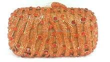 Freies verschiffen!! A15-26, orange farbe mode top kristallsteinen ring handtaschen für damen nette parteibeutel