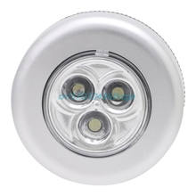 3 LED Light Touch Push лампа ночник автомобиль дома стены Кемпинг Батарея Powered # H028 #