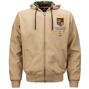 Men Military Jackets Embroidery Hoodies Spring Air Forces One Warm Sweatshirt Army Men s Fleece Hoodie