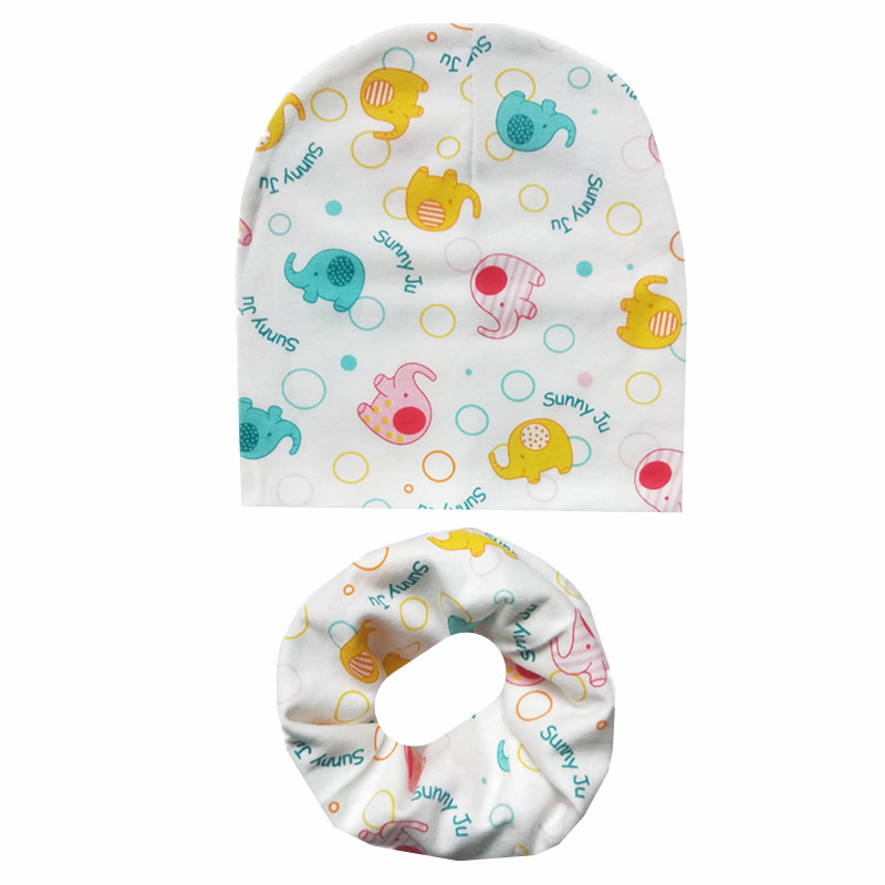 New Baby Hat Infant Cotton 2pcs children Beanies Hat Scarf For Girls Boys Fashion Baby Hat Scarf Set Kids Girls Hats Photo Props