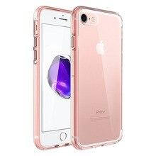 Для iphone 7 case, простой дизайн 0.8 мм ультра тонкий мобильный телефон тпу case для iphone 7/7 плюс с dust разъем